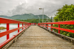 Deserted Wooden Jetty Stock Photo