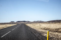 Deserter road in Iceland. Deserted road in South Iceland Stock Images