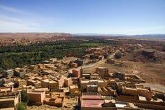 desertera den morocco oasen Arkivbilder