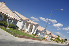 Desertera konstruktion av nya hem i Clark County, Las Vegas, NV Arkivbild