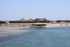 Deserterad ö, tom strand obebodd ö Inget i fotoet arkivfoto