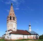 deserterad kyrka royaltyfria bilder