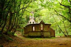 deserterad kyrka Arkivfoto