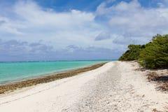 deserterad strand Arkivbilder
