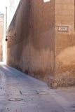 deserterat som den medeltida vägen Fotografering för Bildbyråer