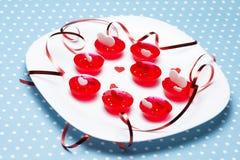 Deserti della gelatina di amore di San Valentino Immagini Stock