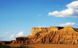 desertic ισπανική ζώνη περιοχών navarra Στοκ εικόνα με δικαίωμα ελεύθερης χρήσης