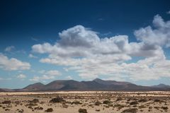 Desertic landscape with big sky Royalty Free Stock Images