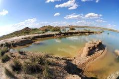 Desertic Zone in der Navarra Spanischregion Lizenzfreie Stockbilder
