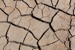 Desertification. Reservoir of Yesa, Zaragoza, Spain Stock Photo