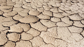Desertification, climate change, dry and cracked earth. Climate change due to the industrial development of the human being is bringing large areas of fertile Stock Image