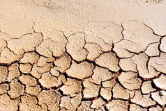 Desertification, climate change, dry and cracked earth. Climate change due to the industrial development of the human being is bringing large areas of fertile Stock Images