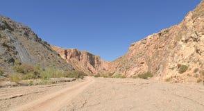 Deserto a Almeria andalusia spain Immagini Stock Libere da Diritti