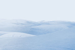 Deserto artico paesaggio di inverno con le derive della neve Fotografia Stock
