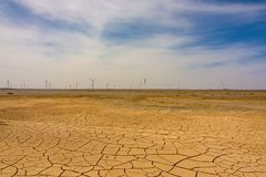 Deserto asciutto immagine stock