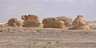 Deserto bianco, Egitto Immagine Stock