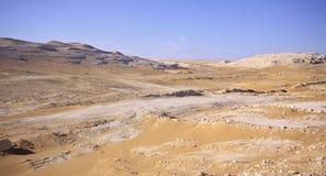 Deserto bianco, Egitto Fotografie Stock Libere da Diritti