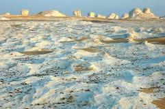 Deserto bianco nell'Egitto Fotografia Stock Libera da Diritti