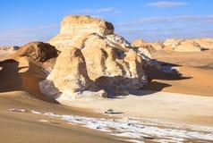 Deserto branco, Egipto foto de stock