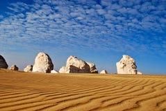 Deserto branco, Egipto Imagem de Stock Royalty Free