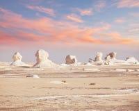 Deserto branco em Egipto Foto de Stock