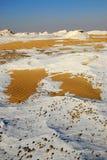 Deserto branco na manhã, Egipto Fotos de Stock Royalty Free