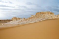 Deserto branco ocidental, Egipto Imagens de Stock