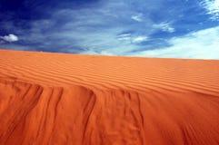 Deserto-céu imagem de stock