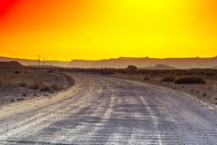 Deserto colorido em Israel Fotos de Stock