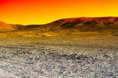 Deserto colorido em Israel Imagem de Stock