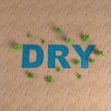 Deserto con la rappresentazione asciutta 3d del testo dell'acqua Fotografie Stock