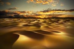 Deserto con le dune di sabbia Fotografia Stock