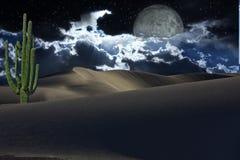 Deserto con le stelle Immagini Stock Libere da Diritti