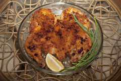 Deserto congelato Tabacco del pollo o tapaka del pollo Cuisi georgiano Fotografia Stock