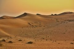 Deserto cor-de-rosa da rocha, Sharjah Fotos de Stock