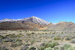 Deserto da lava em torno do vulcão de Teide Fotos de Stock Royalty Free