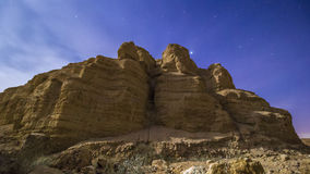 Deserto da noite Fotografia de Stock Royalty Free