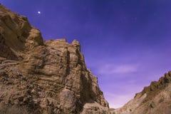 Deserto da noite Fotos de Stock