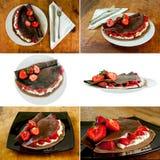 Deserto das panquecas do chocolate Imagem de Stock Royalty Free