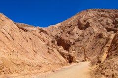 Deserto de Atacama, valle de Quitor fotografia de stock royalty free