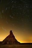 Deserto de Bardenas na noite Fotos de Stock Royalty Free