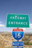 Deserto de Califórnia Foto de Stock Royalty Free