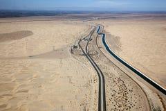 Deserto de Califórnia, dunas de areia imperiais Fotos de Stock Royalty Free