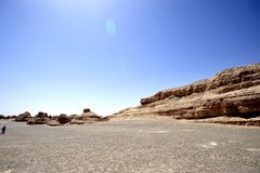 Deserto de Gobi desesperado em Yardang Fotos de Stock