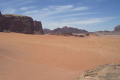 Deserto de Jordão Foto de Stock