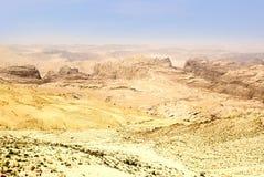 Deserto de Jordão Imagem de Stock Royalty Free
