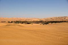 Deserto de Líbia Fotografia de Stock