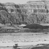 Deserto de pedra em preto e branco Imagem de Stock