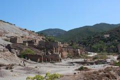 Deserto de Piscinas e as minas velhas dentro da área de Costa Verde - Sardinia - Itália fotografia de stock