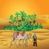 Deserto de Sahara ilustração do vetor